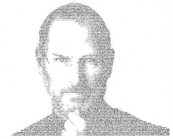 Một số tác phẩm dạng này của Annemarie: chân dung Steve Jobs