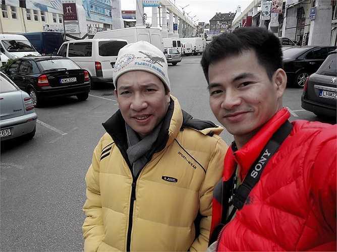 Xuân Bắc cùng Quang Thắng đang có chuyến lưu diễn nước ngoài.