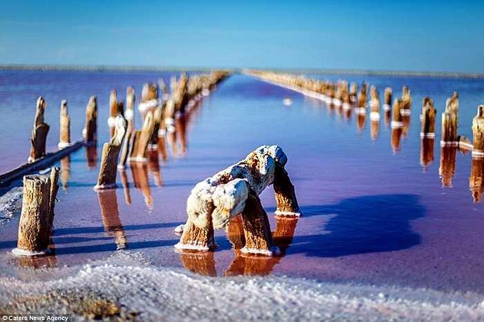 Các cẩu trúc gỗ còn sót lại của những mỏ muối trước đây