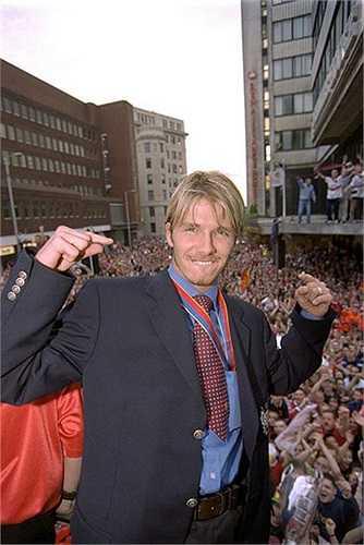 David Beckham - cầu thủ xuất sắc nhất mùa giải 1998-1999 của Man Utd