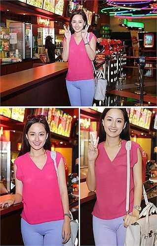 Sự cố không dừng lại với Mai Phương Thúy khi trong năm 2014, người đẹp còn bị chỉ trích khi diện chiếc quần ôm sát trước ống kính máy ảnh.