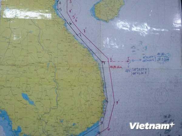Trung Quốc đã dịch chuyển kéo giàn khoan Hải Dương-981 cách vị trí cũ 23 hải lý. Ảnh: Thanh Tâm/Vietnam+