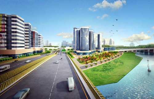 Phối cảnh thiết kế đô thị đường Phạm Văn Đồng. Nguồn: Sở QHKT TP HCM