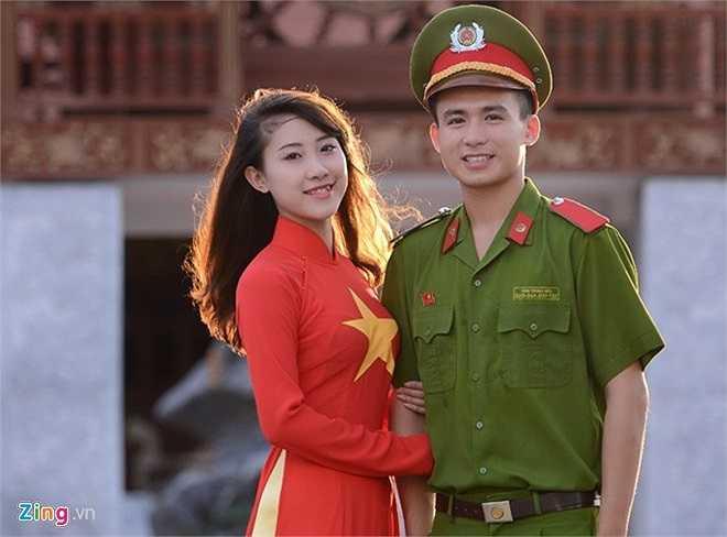 Thái Thị Nhi và Trung Hiếu.