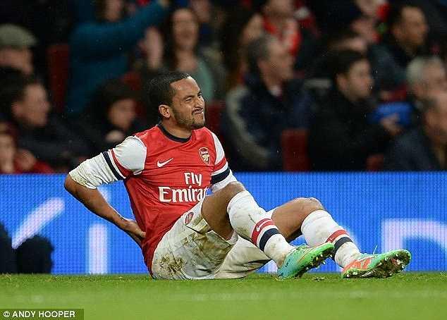 Cũng vì chấn thương này và một số vấn đề ở lưng, Walcott đã không thể có một mùa giải trọn vẹn cho Arsenal