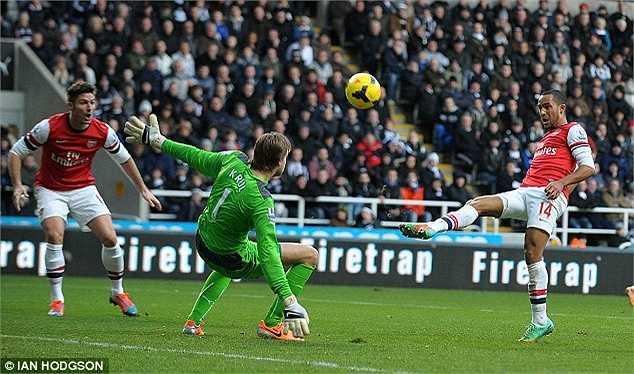 Trước khi gặp chấn thương, Walcott đạt phong độ rất cao, anh ghi được 6 bàn sau 18 trận cho Pháo thủ