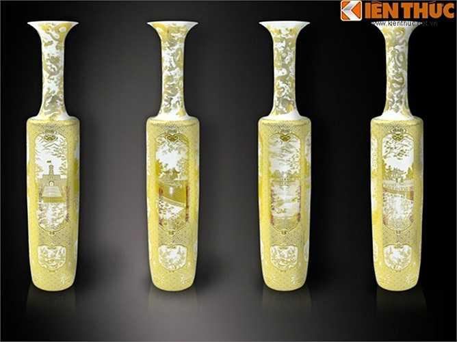 Những sản phẩm này đều được tạo bởi công nghệ vẽ vàng trên chất liệu sứ.