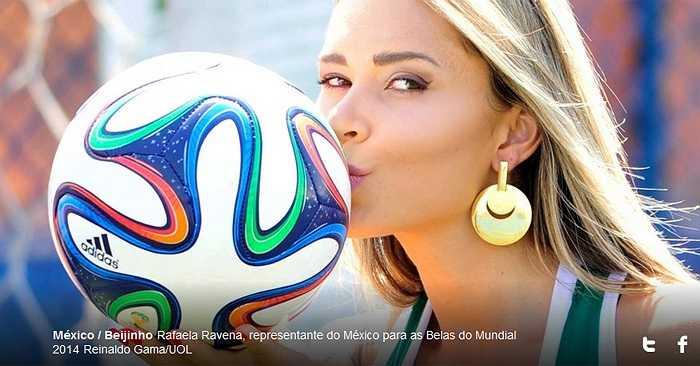 Cũng giống như 'hạt đậu nhỏ' Chicharito là niềm hy vọng số 1 của đội bóng xứ mũ vành, Rafaela Ravena là hy vọng số 1 trong cuộc thi sắc đẹp này.