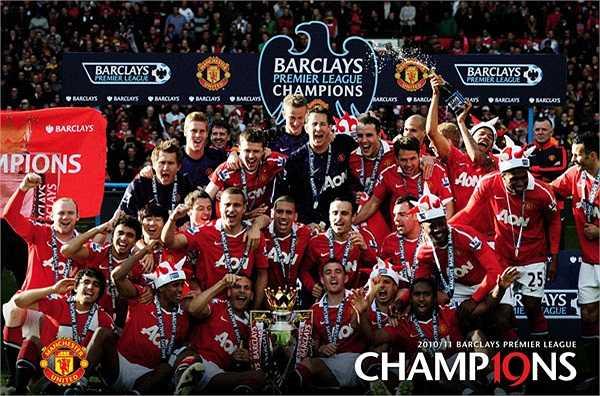 Mùa giải 2010-2011, Quỷ đỏ chính thức vượt qua Liverpool để trở thành đội bóng giàu thành tích nhất nước Anh với 19 chức vô địch Premier League.