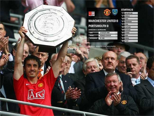 Cuối cùng là danh hiệu vô địch Community Shield sau khi đánh bại CLB Portsmouth.