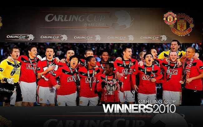 Mùa giải 2009-2010, Man Utd bảo vệ thành công chức vô địch Carling Cup sau chiến thắng trước Aston Villa.