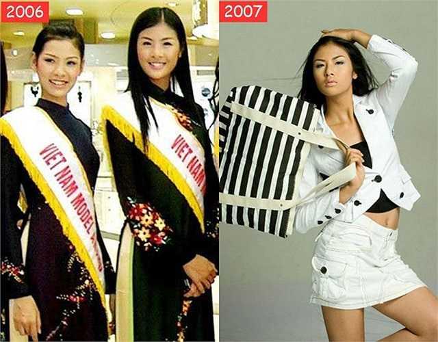 Khoảng thời gian từ năm 2004 - 2007, Ngọc Hân gây ấn tượng nhờ chiều cao nhưng chưa phải gương mặt được chú ý vì nhan sắc bình thường, làn da đen nhẻm.