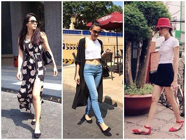Về mùa hè, người đẹp chủ yếu diện jeans, short, váy xẻ cao. Cô hiếm khi ăn mặc sexy quá đà hay khoe đường cong táo bạo.