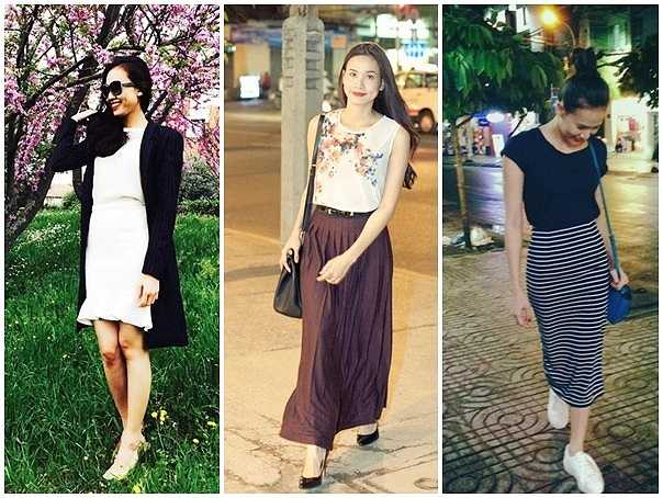 Hình ảnh đơn giản, nữ tính nhưng rất cuốn hút của Dương Mỹ Linh trên những con phố Sài Gòn.