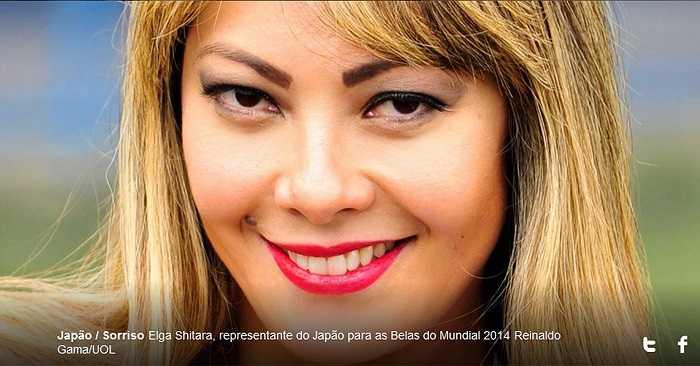Sorriso Elga Shitara mất điểm ở khuôn mặt kém xinh.