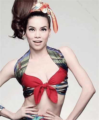Hiếm hoi lắm người ta mới thấy Hồ Ngọc Hà diện bikini bên con trai, hay thực hiện bộ ảnh thời trang thiếu vải.