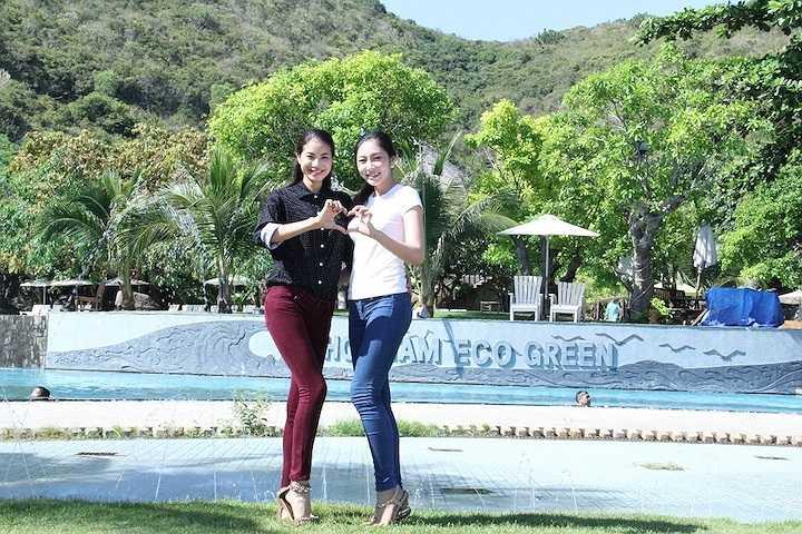 Cô đồng hành với Ngày hội trẻ em khuyết tật tại đảo Hòn Tằm cùng Á hậu Thể thao thế giới Phạm Hương và ca sỹ Dương Quốc Hưng.