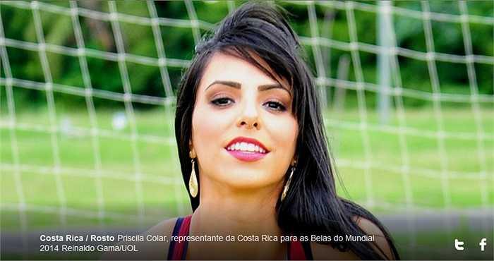 Nhưng người đẹp của Costa Rica thì chắc chắn không nếu không muốn nói nổi bật nhất bảng đấu.