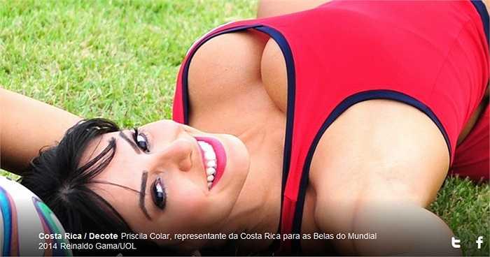 Priscila Colar người thân hình bốc lửa còn sở hữu một khuôn mặt khả ái.