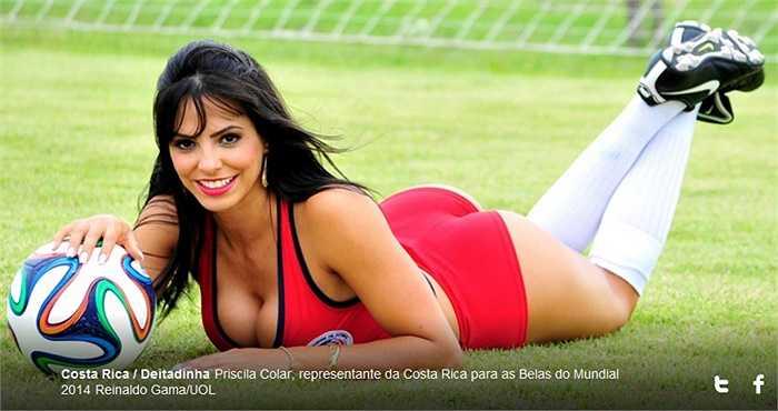 Priscila Colar sẽ là thử thách rất lớn với những người đẹp Anh, Italia và Uruguay.