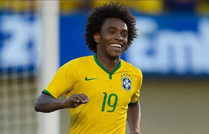 Willian là người ấn định chiến thắng 4-0 cho Brazil ở phút 73.