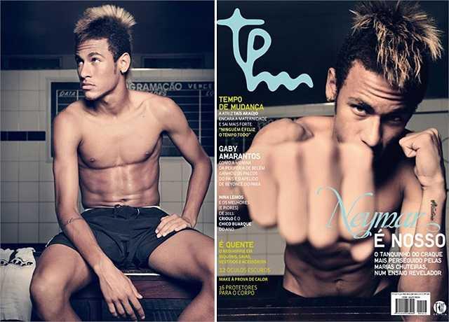 Neymar, ngôi sao số 1 của ĐT Brazil luôn là mục tiêu săn đón của rất nhiều cô gái.
