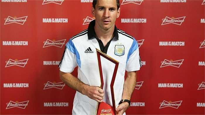 Danh hiệu 'Cầu thủ xuất sắc nhất trận' đã nói lên được rất nhiều điều về sự xuất sắc của Lionel Messi khi gặp phải một đối thủ cực kì khó chịu - Thụy Sỹ.