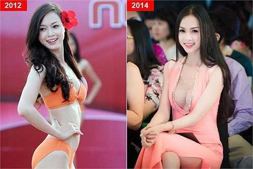 Có rất nhiều người mẫu, siêu mẫu Việt từng bị công chúng đặt dấu hỏi khi vòng 1 của họ ngày càng phát triển về kích cỡ. Hình ảnh cũ của Ngọc Anh được đem ra để so sánh với vòng đầy đặn hiện tại