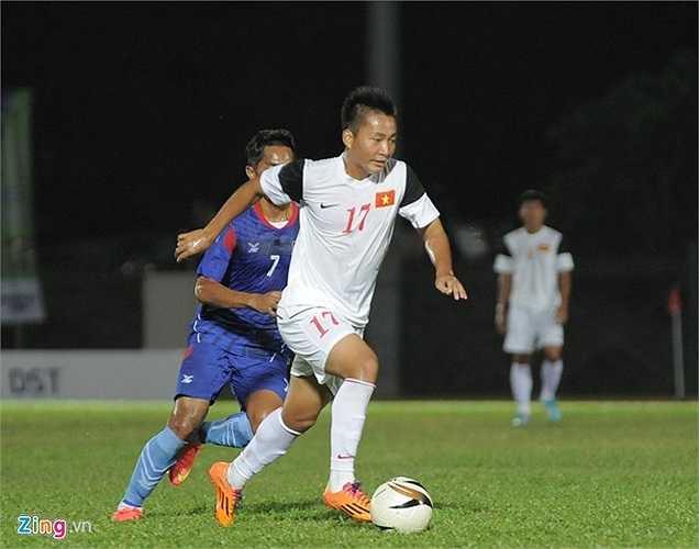 Về cuối hiệp thi đấu thứ nhất thể lực của các cầu thủ Campuchia đã giảm sút rõ rệt. Ở tình huống hậu vệ đối phương không thể theo kịp bóng, Hồ Tuấn Tài dứt điểm hiểm hóc, hoàn tất cú đúp, nâng tỷ số lên 2-0 cho U19 Việt Nam.
