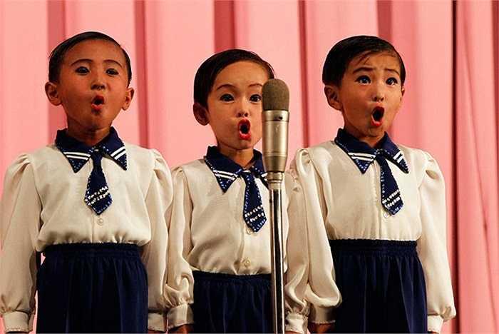 Một tiết mục biểu diễn của trẻ em Triều Tiên