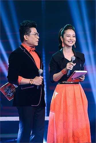 Tối qua, Jennifer Phạm đã cùng với MC Thanh Bạch dẫn dắt khá trôi chảy mở màn vòng trực tiếp của 'Giọng hát Việt nhí'.