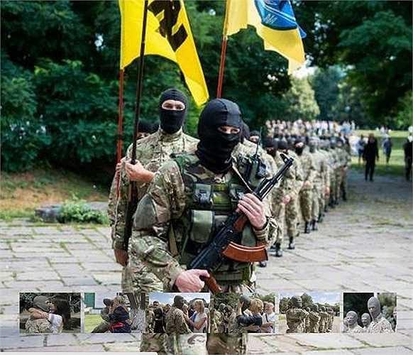 Những tân binh khởi hành lên đường tham chiến ở miền đông Ukraine