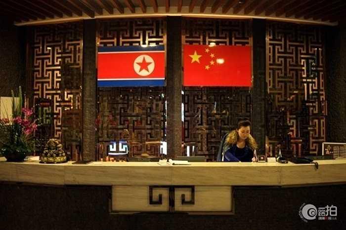 Khách sạn Triều Tiên nằm ở bờ sông Áp Lục