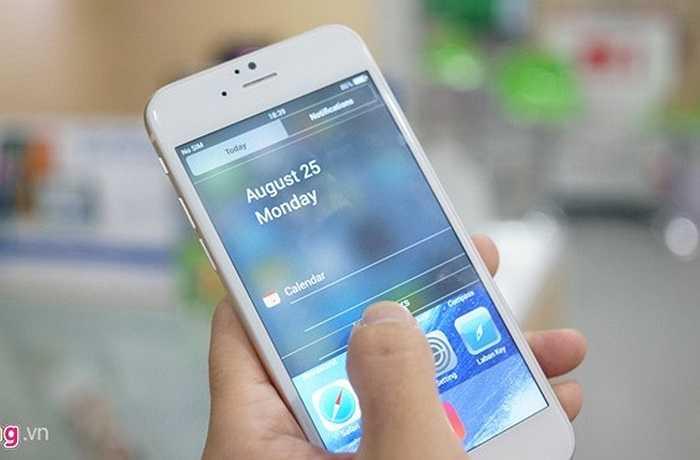 Thanh thông báo giống hệt với iOS 7.
