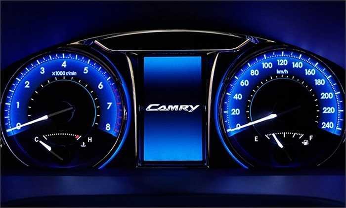 Bên cạnh động cơ 4 xi lanh dung tích 2,5 lít công suất 181 mã lực và động cơ V6 dung tích 3,5 lít công suất 249 mã lực hiện thời, Camry 2015 còn thêm động cơ xăng mới 4 xi lanh dung tích 2 lít, 150 mã lực.