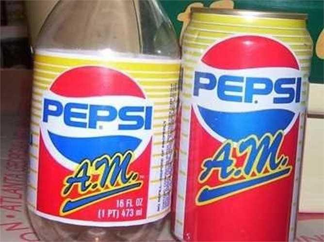 Pepsi A.M và Crystal – 1989, 1992: Năm 1989, Pepsi cố gắng hướng tới mục tiêu 'ăn sáng uống cola' với Pepsi A.M và nó chỉ kéo dài được một năm. Năm 1992, Pepsi cố gắng lại, lần này là 'Crystal Pepsi' và vẫn không nhận được ủng hộ. Sản phẩm này lụi tàn năm 1993.