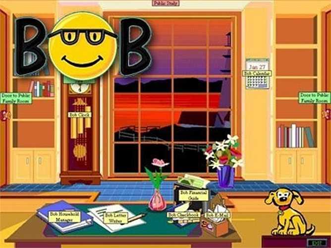 Microsoft Bob – 1995: Microsoft Bob được xem là một giao diện người dùng thân thiện cho Windows. Tuy nhiên, nó đã bị Microsoft loại bỏ một năm sau khi tung ra năm 1995. 'Thật không may, phần mềm này yêu cầu hiệu quả hơn so với các phần cứng máy tính thông thường có thể cung cấp vào thời điểm đó, và nó không có một thị trường đủ lớn. Bob qua đời', tỷ phú Bill Gates đã viết sau đó.