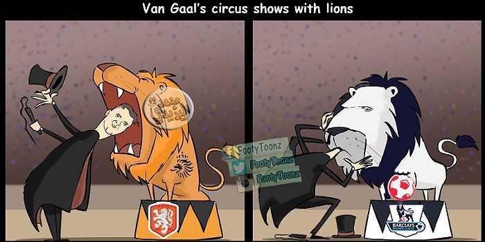 Van Gaal hùng hổ bấy nhiêu ở Hà Lan thì cũng chẳng là gì khi ở Anh.