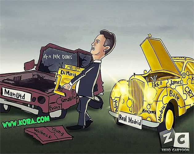 Van Gaal đang cố gắng lắp động cơ vàng cho chiếc xe 'đồng nát' Man Utd.