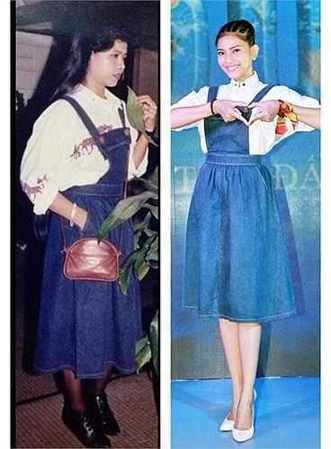 Cô chia sẻ: 'Con vẫn luôn tự hào về những chiếc áo của má đã giữ gìn rất kĩ từ suốt mấy chục năm qua. Cho dù phía trước có thay đổi như thế nào, nhưng những bộ trang phục của má vẫn đúng thời và con cảm thấy vui và hãnh diện mỗi khi khoác lên người của con bộ trang phục của má'.