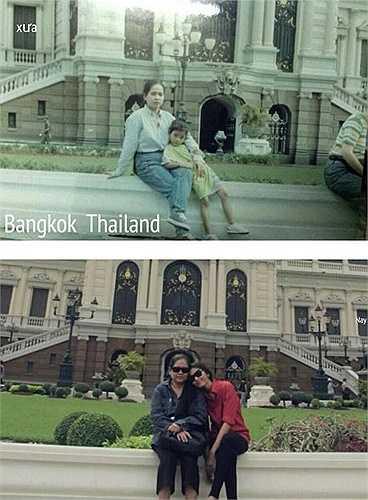 Mới đây, cô cũng chia sẻ một hình ảnh đi du lịch hồi bé cùng mẹ tại Thái Lan từ lúc mới chỉ 5 tuổi và so sánh với thời điểm hiện tại cùng những lời cảm ơn 'Con hạnh diện vì con được làm con của Mẹ. Con yêu Mẹ nhiều lắm,Mẹ hiền ơi!'  Trung Ngạn