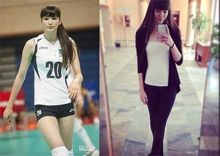 Altynbekova Sabina được mệnh danh là nữ thần bóng chuyền.