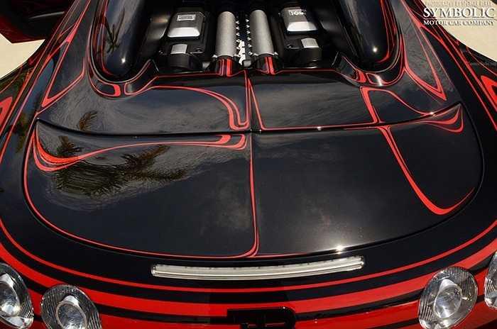 'Trái tim' của xe là động cơ W16 dung tích 8.0 lít, công suất 1.001 mã lực, cho khả năng tăng tốc từ 0-100 km/h trong 2,5 giây, tốc độ tối đa 407 km/h, giữ ngôi vị chiếc xe nhanh nhất thế giới.
