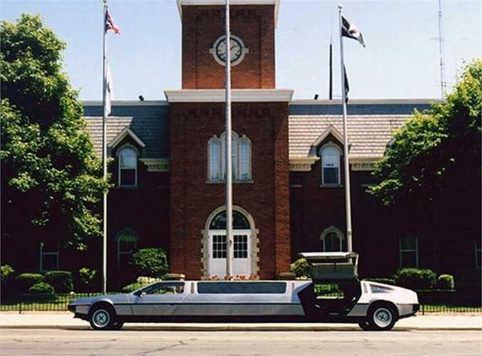 Từng tham gia trong phim Back To The Future, xe do nhà chế tạo DeLorean sản xuất và là mẫu limo đầu tiên thiết kế cửa mở kiểu cánh chim. Dù dài gần 12m, chiếc xe vẫn có thể đạt vận tốc 150km/h.