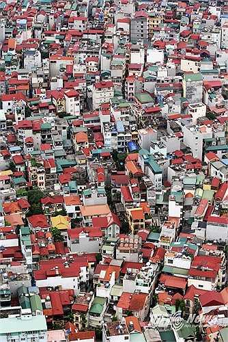 Những mái nhà ở khu Cống Vị, Ba Đình