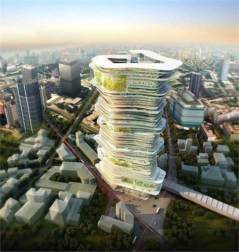 Phác thảo một tòa nhà chọc trời trong tương lai