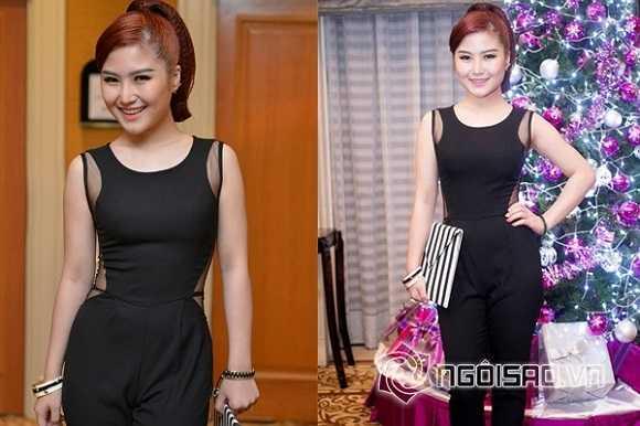 Cô cũng không nhận được lời khen nào khi diện bộ jumpsuit màu đen với  những nếp gấp nhạy cảm phía trước