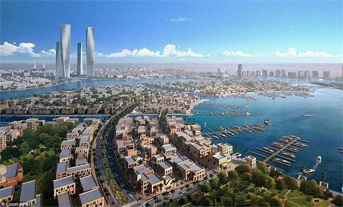 Toàn cảnh siêu thành phố Lusail, được Qatar xây dựng để phục vụ World Cup 2022. Đây sẽ là nơi diễn ra lễ khai màn và bế mạc giải đấu bóng đá danh giá nhất hành tinh.