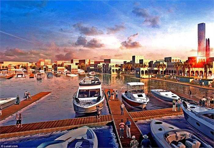 Khu VIP Lusail City Marina được xem là một thành phố thu nhỏ khác nằm trong lòng Lusail, hướng tới đối tượng người dân và du khách giàu có. Ước tính, Lusail sẽ có khoảng 250.000 cư dân sinh sống.