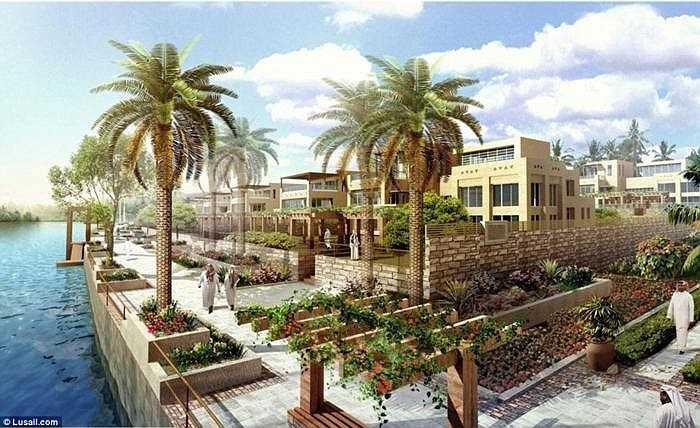 Kinh phí xây dựng thành phố ước tính 45 tỷ USD, trong đó có rất nhiều hạng mục đầy tham vọng.
